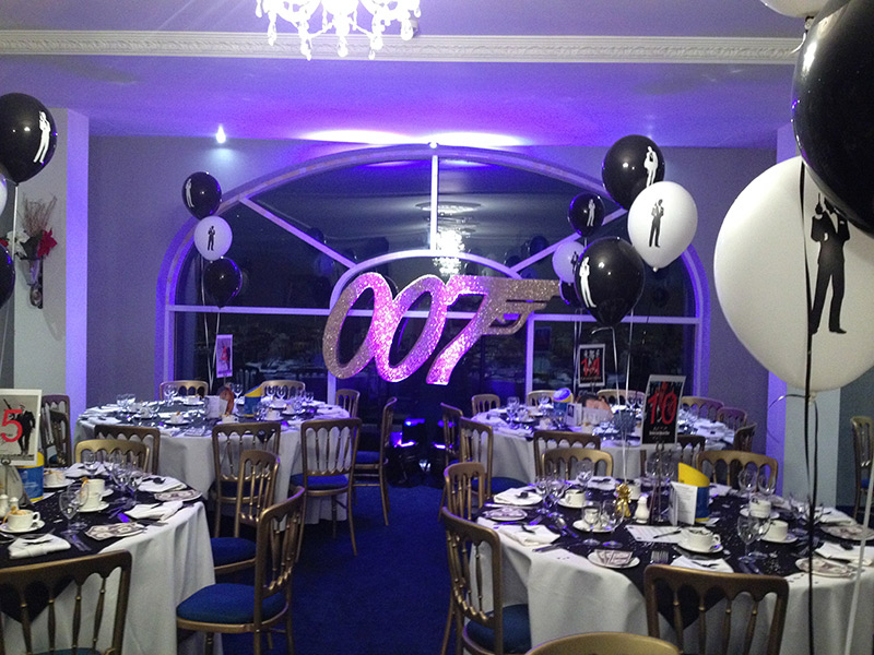 Prego events james bond themed event for 007 room decor